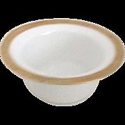 B M de M Gold Trim Finger Bowl made for Gump's of SF