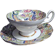 Clare Bone China from England Cup and Saucer Multi-Floral Pattern