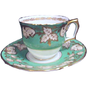 Crown Staffordshire Bone china Cup and Saucer from England