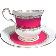 Queen's Fine Bone China of England Marquis Pattern cup and Saucer