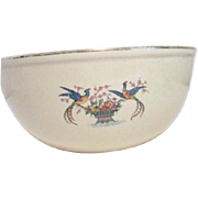 Homer Laughlin Large Mixing Bowl with Birds of Paradise and Flower Basket