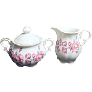 Apple Blossom Cream and Sugar Set Made in Japan
