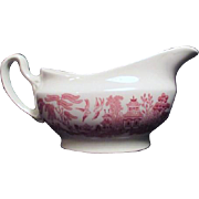 Pink Willow Rosa Gravy Boat by Churchill from England