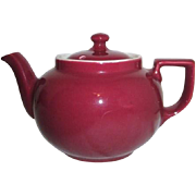 Hall Lidded Burgundy Color Teapot
