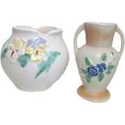 Two Floral Pottery Vases c1935