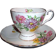 Royal Tuscan Birthday Series Cup and Saucer September Asters
