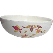 "Hall's Jewel Tea 9"" Round Serving Bowl/Autumn  Leaf"