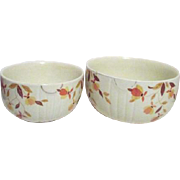 Set of Two Jewel Tea Mixing Bowls by Hall/Autumn Leaf