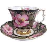 Royal Albert Bone China Cup and Saucer Alberta Rose