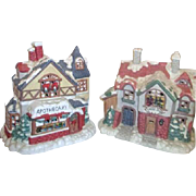 Mervyn's Christmas Village Square Dress Shop and Apothecary
