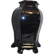 "Classic Black 15"" Tall Hexagonal Vase"