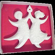 Haviland Dancing Angels Christmas Tree Ornament