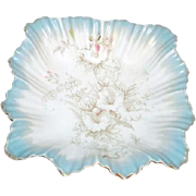 Antique W&R Carlton Ware Petunia Pattern Ruffled Sides Bowl