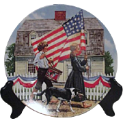 Patriotic Decorator Plate by Knowles