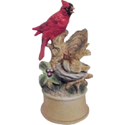 Porcelain Red Cardinal Music Box
