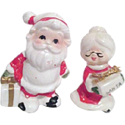 Mr & Mrs Santa Claus Figurines with Packages