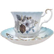 Royal Albert Bone China Cup Saucer Blue Hues