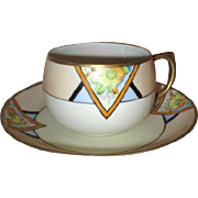 Art Deco Cup and Saucer Made in Japan