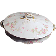 Theodore Haviland Limoges Antique Covered Vegetable Dish Marie Pattern