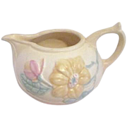 Hull Art Pottery Yellow Creamer Magnolia Pattern