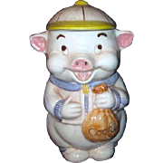 Treasure Craft Cookie Jar Pig with Baseball Cap