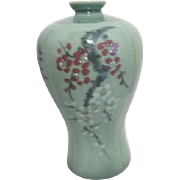 Korean Celadon Vase with Seasons