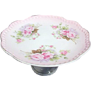 Lefton Hand Painted Compote with Roses