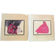 Two Tiles by R.C. Gorman Pink Shawl and Night II