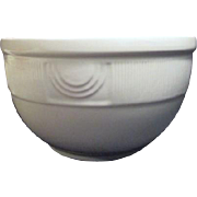 Hall Art Deco Cream Colored Mixing Bowl with Yellow Flowers