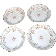 Set of 4 Dessert Bowls from Klingenberg/Dwenger of Limoges France