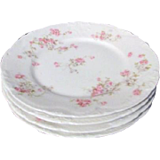 Theodore Haviland Limoges Antique Set of 4 Salad or Dessert Plates Marie Pattern