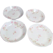 Theodore Haviland Limoges Antique Set of 4 Coupe Soup Bowls Marie Pattern