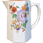 Homer Laughlin Cream or Milk Pitcher with Autumn Flowers