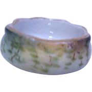 Ceramic Hand Painted Open Salt 1912