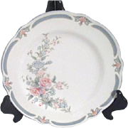 Set of 4 Noritake Brighton Springs Pattern Bread and Butter/Dessert Plates