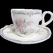 Noritake Brighton Springs Pattern Cup and Saucer