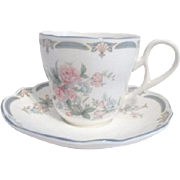 Noritake Brighton Springs Pattern Cup and Saucer