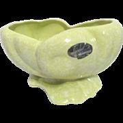 Shawnee Pottery Planter Seashell Shape Light Green