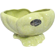 Shawnee Pottery Planter Seashell Shape Light Green