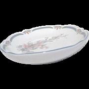 Noritake Brighton Springs Pattern Relish/Butter Plate