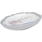 Noritake Brighton Springs Pattern Relish/Butter Plate