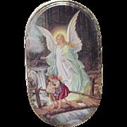 Von Annaburg 1995 Guardian angel with Boy and Girl Porcelain Bradex Plate