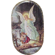 Von Annaburg 1995 Guardian angel with Boy and Girl Porcelain Bradex Plate