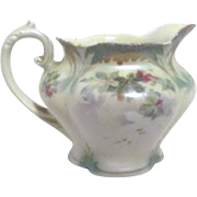 RS Prussia Green and White Creamer