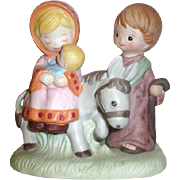 HOMCO Porcelain Youthful Nativity Christmas Figurine