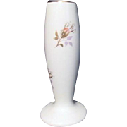 Lord Nelson Pottery Small Footed Vase with Rosebuds and Gold Highlights