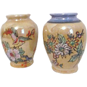 Pair of Lusterware Vases Made in Occupied Japan