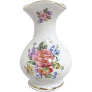 Limoges Miniature Vase with Gold Trim on Tri-Corner Top