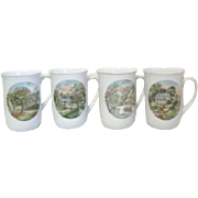 Currier and Ives 4 Seasons Mugs from Armbee San Francisco
