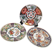 Set of Three Japanese Decorator Plates